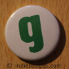 Lowercase G Button Badge