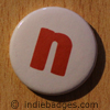 Lowercase N Button Badge