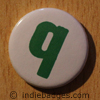 Lowercase Q Button Badge