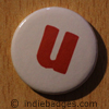 Lowercase U Button Badge