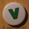 Lowercase V Button Badge