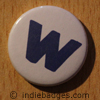 Lowercase W Button Badge
