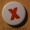 Lowercase X Button Badge