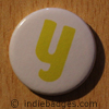 Lowercase Y Button Badge