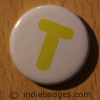 Uppercase T Button Badge