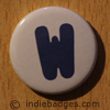 Uppercase W Button Badge