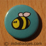 Cute Bee Button Badge